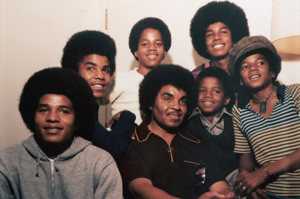 Michael with his brothers and father