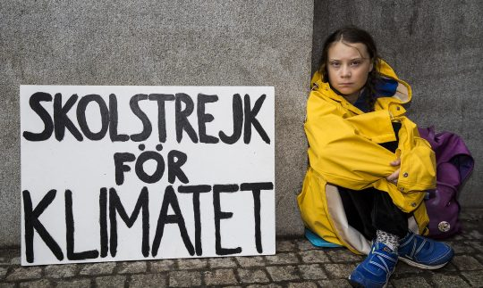 Greta Thunberg poses for Climate Change