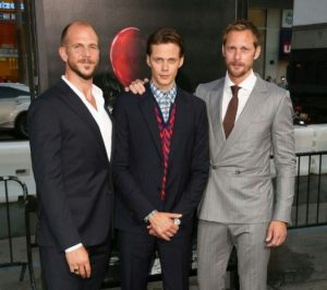 Alexander Skarsgard with his brothers, Gustaf and Bill