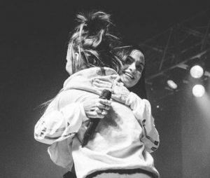 Kehlani and Lexii Alijai performing together during show,