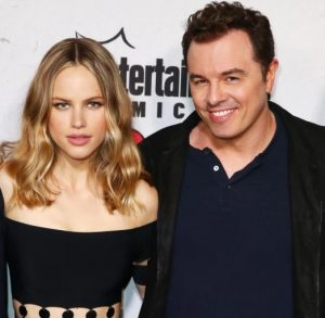with Seth MacFarlane during an event