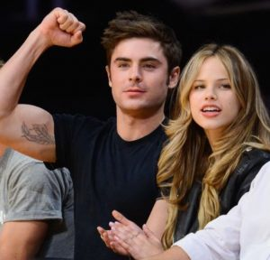 Halston Sage with Zac Efron back in 2014