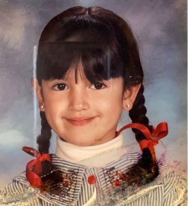 The childhood picture of Eiza Gonzalez