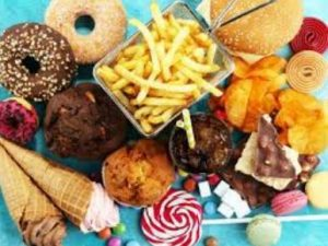 The picture of junk foods