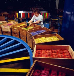 Women working in the Crayola Crayons Company