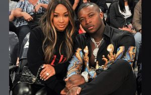Malika Haqq with his ex- boyfriend in a date