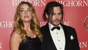 amber heard and johnny depp in a show