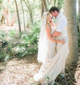 Ellen Hollman on the day of her wedding with husband, Stephen Dunlevy
