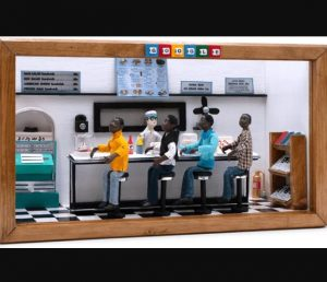 Google Doodle shared a diorama of the 1960 Greensboro Sit-In Movement