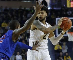 Isaiah Livers plays forward from the Michigan Wolverines