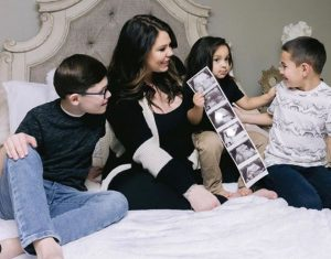 Kailyn Lowry with her three children; two sons and a daughter