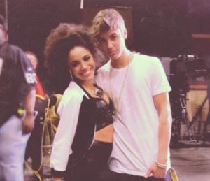 Kiersey Clemons on her Twitter with a guy