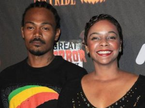 Lark Voorhies with her former husband, Jimmy Green
