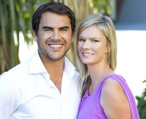 Mike Bullot with his ex-wife, Chelsea Winter