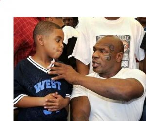 Rayna Tyson's brother, Amir Tyson (left) and father, Mike Tyson (right)