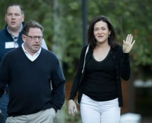 Sheryl Sandberg with her reported former partner for three years, Bobby Kotick