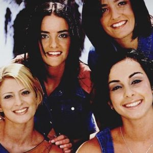 Sinead O'Carroll with the members of the girl group, B Witched
