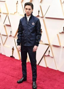 The outfit of Timothee Chalamet at the 2020 Oscars Event