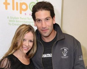 Tom Bernthal's brother, Jon Bernthal with his wife, Erin Angle