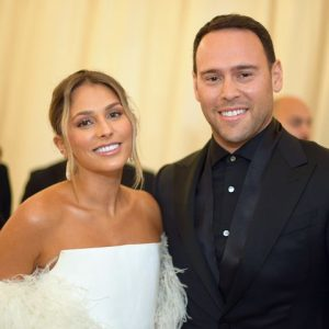Scooter Braun with his Wife yael