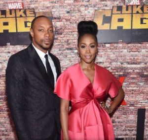 simone missick with husband Dorina missick in a Marvel Show
