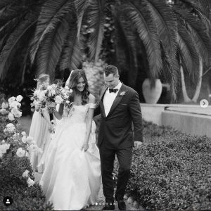 Joc Pederson with Kelsey William, first anniversary