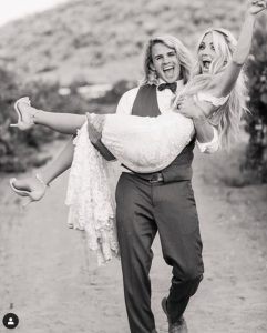Wedding pic of Savannah Rose LaBrant with her spouse Cole LaBrant