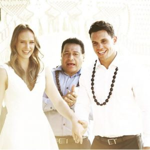 Matt Toomua and her wife Ellyse Perry Exchanging marriage vows