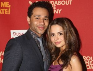 Corbin Bleu with his spouse, Sasha Clements during an event