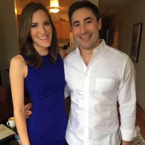 Jonathan Swan with his wife, Betsy Woodruff
