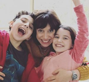 Beth Rigby with her two children; a son and a daughter