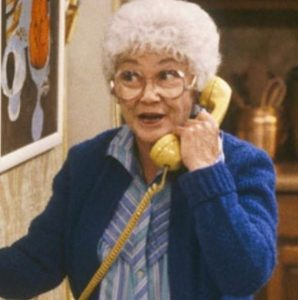 Estelle Getty played the role of Sophia Petrillio in The Golden Girls