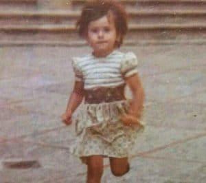 Itziar Ituno during her childhood