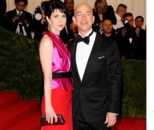 MacKenzie Bezos with her former husband, Jeff Bezos at the Met Gala in 2012