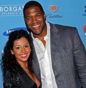 Michael Strahan with his first and former wife, Wanda Hutchins