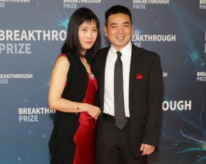 The billionaire, Eric Yuan with his wife on the red carpet
