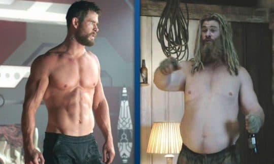 Insights of Avenger: Endgame Movie: Chris Hemsworth Fat Thor Transformation