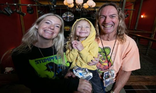Danny Carey and his girlfriend, Rynne Stump