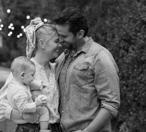 Amanda Kloots with her husband, Nick Cordero and their son