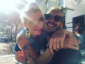 Clementine Ford with her partner, Simon Alexander, Instagram@clementine_ford