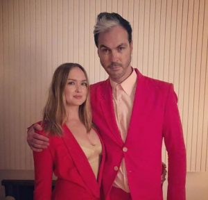 Kaylee DeFer with her husband, Michael Fitzpatrick