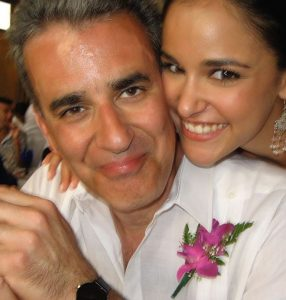 Melissa Fumero with her father wishing a Happy Fathers Day