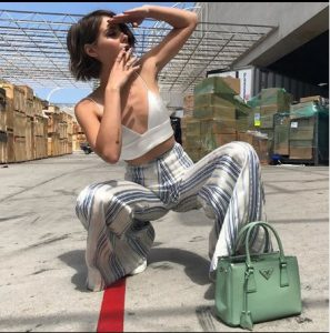 Willa Holland with her amazing outfit, Instagram@willaholland