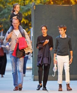 Paul Bettany with his wife, Jennifer and kids, Stellan, Agnes Lark.