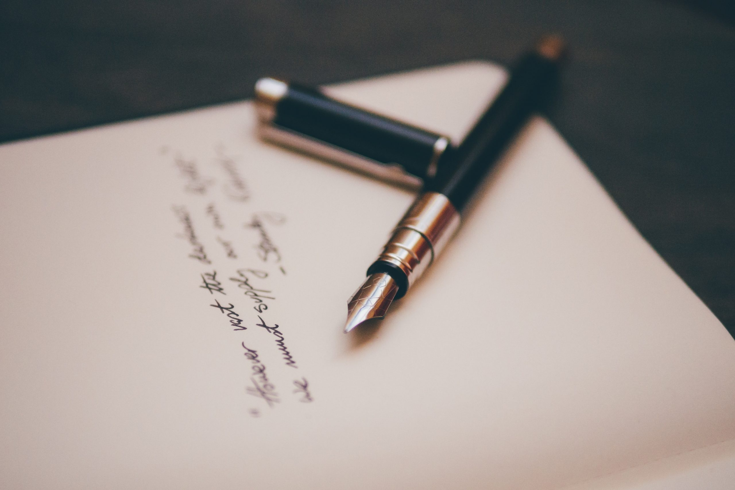 letter to loved ones as self care