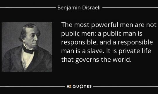 Benjamin Disraeli quote on most powerful men