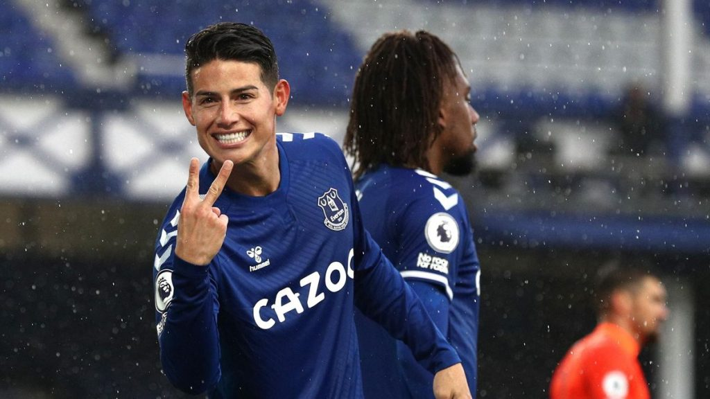 EPL update: James Rodriguez celebrating goal against Brighton, Pic. Eurosports reacting after the match