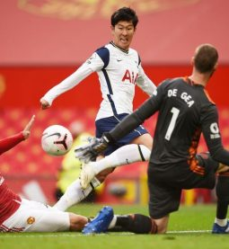 Son Heung-min scoring against Manchester United, Pic. All Star
