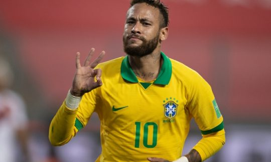 Neymar after the hattrick against Peru during International Break