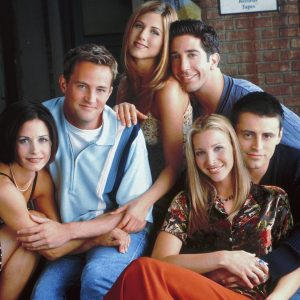 Left: Monica and Chandler, Middle: Rachel and Ross, Right: Phoebe and Joey